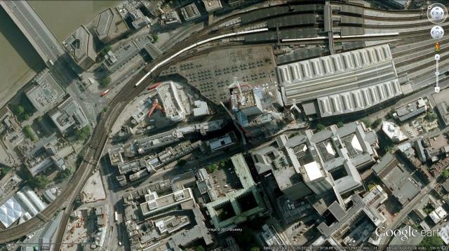 Implantação do  edifíocio the shard em Londres