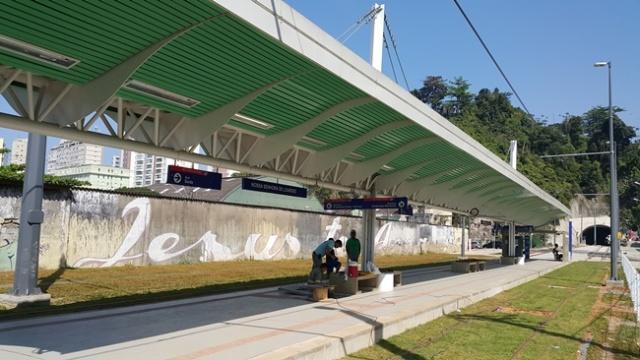 Estação Nossa Senhora de Lourdes VLT Santos/ São Vicente
